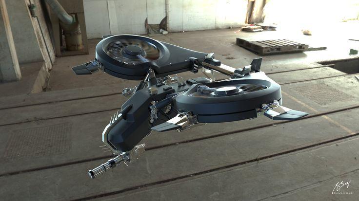 ArtStation - Combat Drone Modeling Practice., Suman Bag