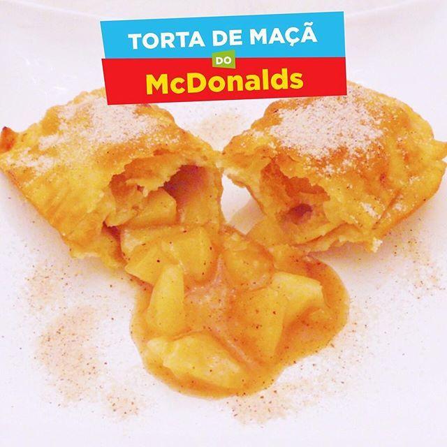 Receita de Torta de maçã tipo do McDonalds - Modo de fazer no youtube.com/gordicessa