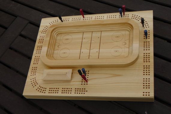 Wooden 3D NHL Hockey Arena Cribbage Board  Cedar or by cribscapes, $95.95