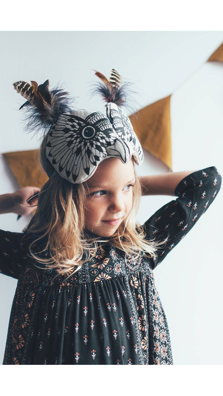 Love this little owl mask.                                                                                                                                                                                 More