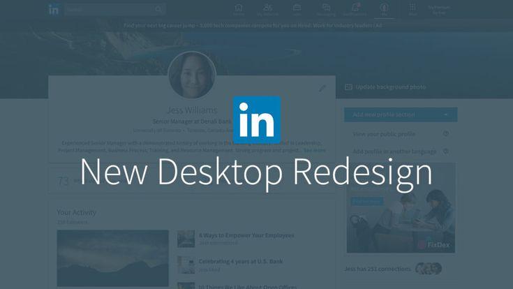 LinkedIn lancia il suo nuovo design via desktop. #LinkedIn #Social #SMM #SocialNetwork