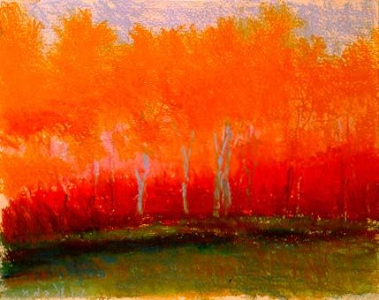 """High Trees"" by Wolf Kahn    pleasurenotes.com"