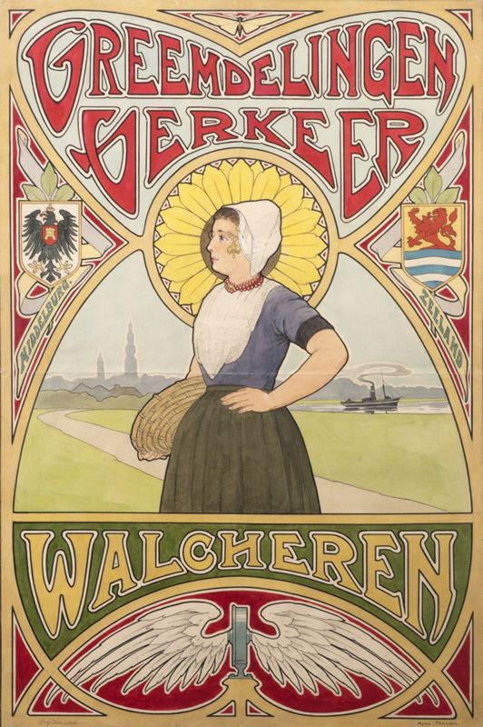 Dutch Poster. The Dutch were working with exactness and clean lines. (Unknown Artist)