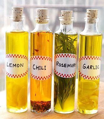 DIY~from the garden. HOW TO: Make herb infused oils.