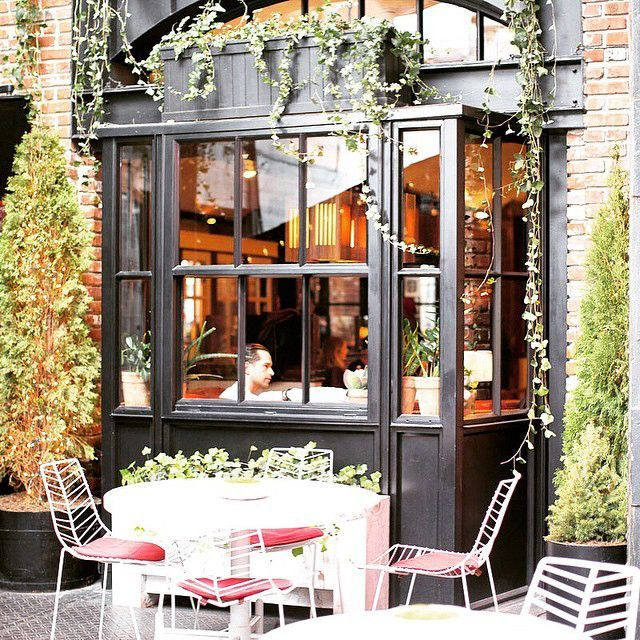 """The Best Spots In NYC, According To Emily Weiss #refinery29  http://www.refinery29.com/emily-weiss-nyc-travel-guide#slide-6  Best Saturday Spot""""The Standard Grill in Meatpacking has the best Bloody Mary in town and is a perfect place for day drinking. It's a great weekend indulgence.""""The Standard Grill, 848 Washington Street (at 13th Street); 212-645-4100."""