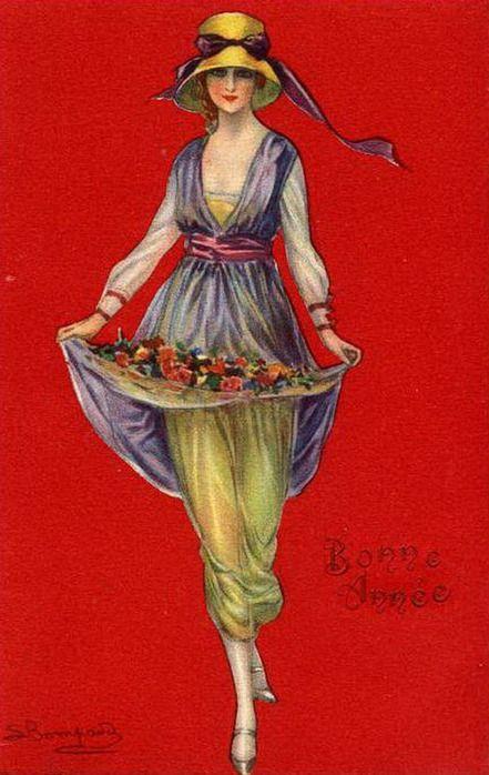 мода на старых открытках этот