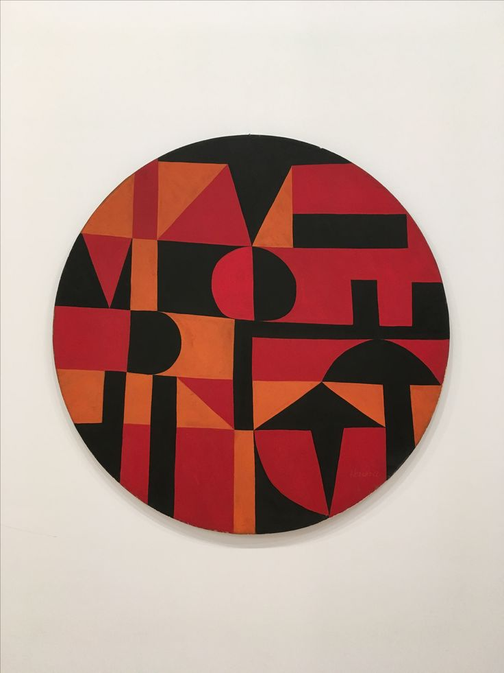 Iberic acrylic on canvas on board diameter 40 in courtesy the artist and lisson gallery carmen herrera