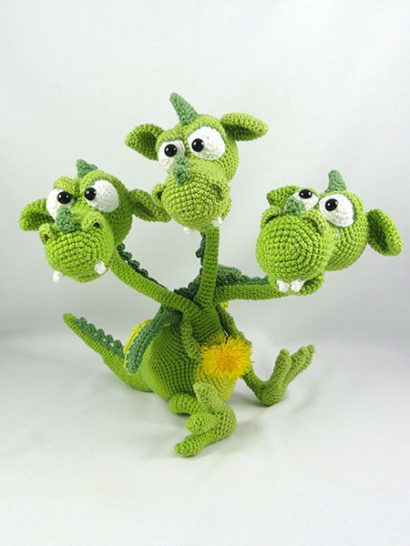 Green Dragon Amigurumi Pattern : 1000+ images about Crochet Dragons & Lizards on Pinterest ...