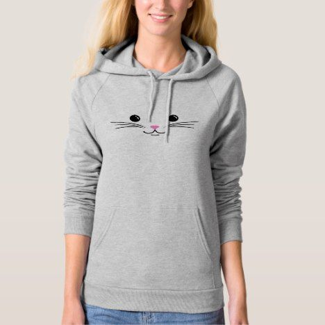 Kitty Cat Cute Animal Face Design Hoodie #cat #cats #kitten #catproducts