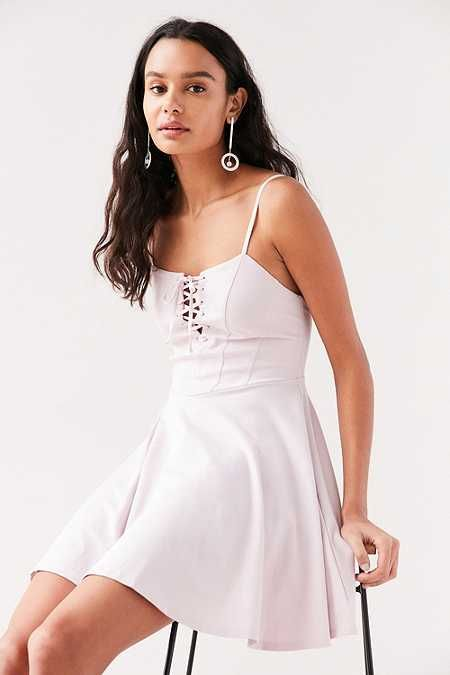 Kimchi Blue Katie Lace-Up Corset Mini Dress