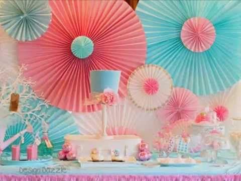 DIY Kraft Paper Fans Backdrop / Abanicos de Papel ( Party Decoration - Decoracion de Fiestas) - YouTube