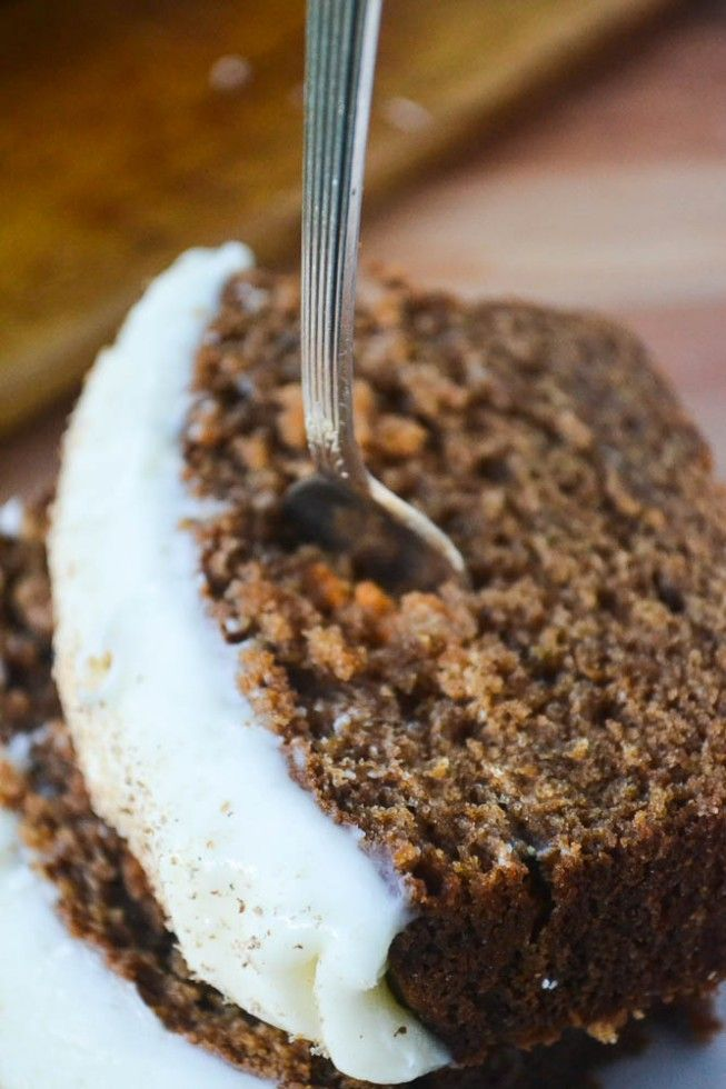Gingerbread Loaf with Cream Cheese Frosting by theviewfromgreatisland #Gingerbread