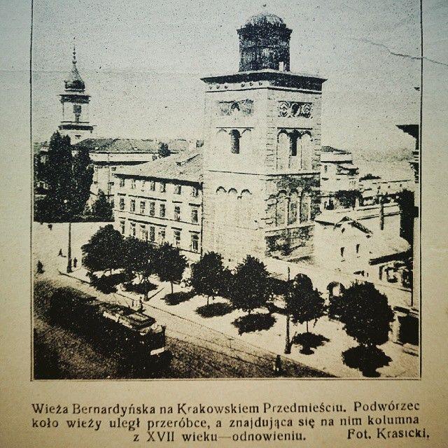 Warszawa przedwojenna, Krakowskie Przedmieście.  Foto  Kuriera Warszawskiego (nr 191)  pajonki's photo on Instagram