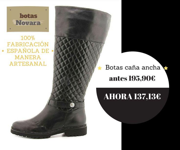 Botas de caña ancha de piel natural fabricadas artesanalmente en España
