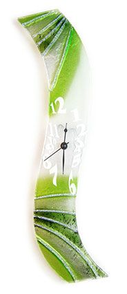 LIME TWIST GLASS CLOCK