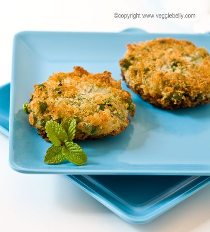 Panko Crusted Pea Fritters with Tamarind Jelly | Veggie Belly | Vegetarian Recipe