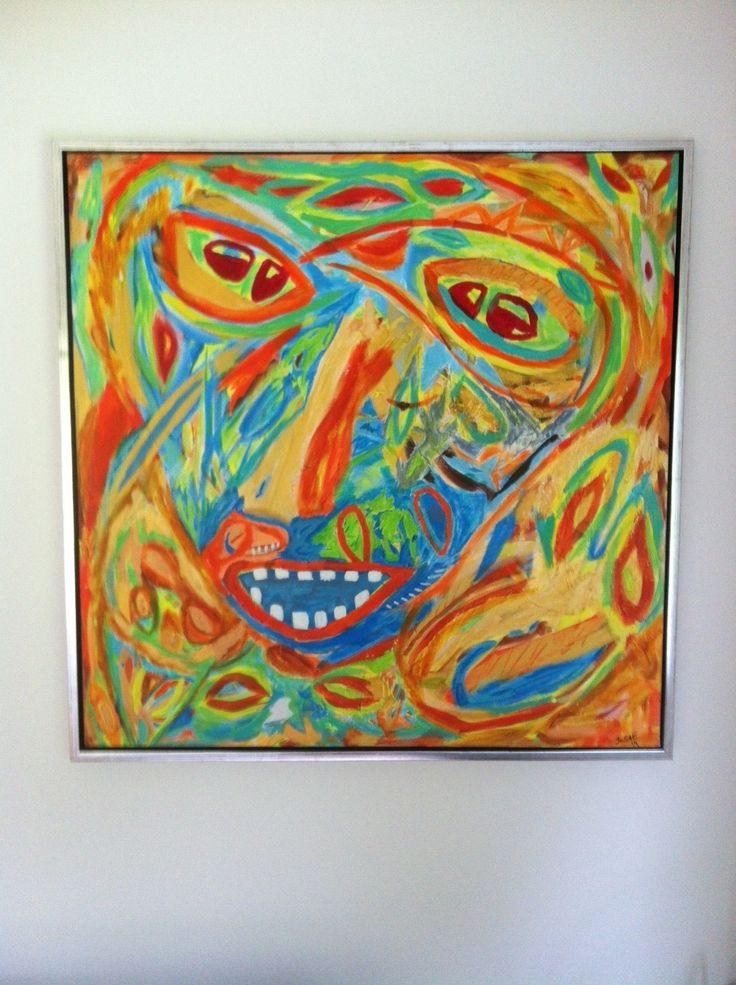 Facce in estate danese...  Acrylic 80x80 cm