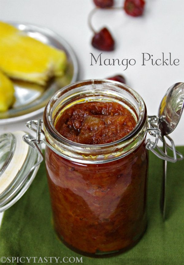 Mango pickle - a tasty Indian pickle