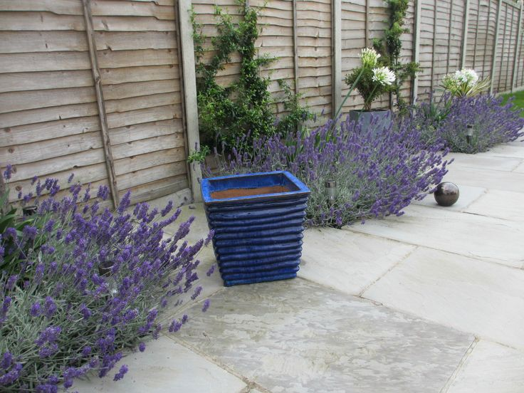 LARGE GLAZED BLUE GARDEN CONTEMPORARY POT PLANTER | EBay
