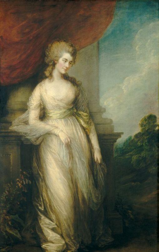 Thomas Gainsboroguh Georgiana Duchess of Devonshire 1783 - Georgiana Cavendish, Duchess of Devonshire - Wikimedia Commons