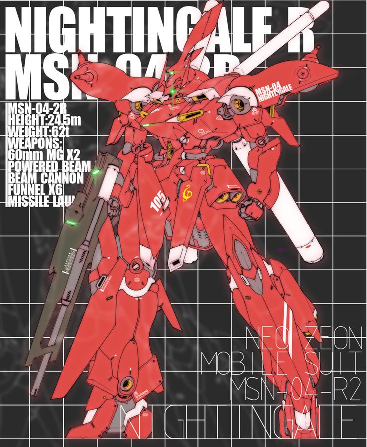 "「MSN-04-2R""NIGHTINGALE R""」/「GUNDAM5320」の漫画 [pixiv]"