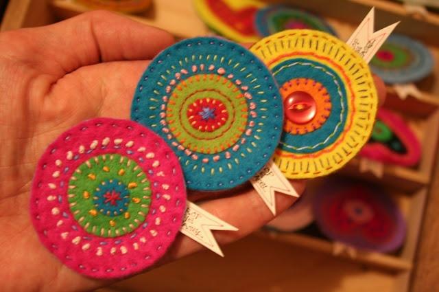 Embroidered felt