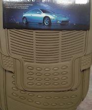 SET TAPPETINI / CAR FLOOR MAT UNIVERSALI PER AUTO IN PVC COLORE BEIGE | eBay