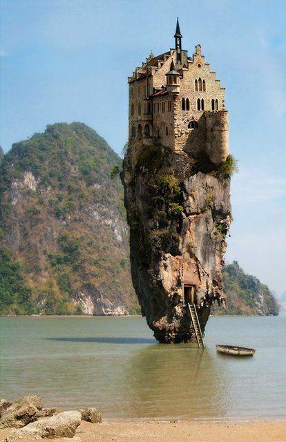 Amazing house - Dublin, Ireland.  Omg this is heaven.: Dreams, Castles House, House Islands, Dublin Ireland, James Bond, Ireland Castles, No Way, Places, Rocks