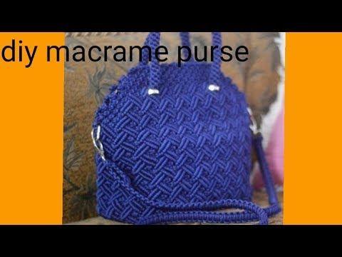 How to make macrame purse # design 19 - YouTube