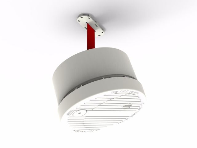 Rappel - the smart smoke detector. We made the Rappel because most smoke detectors flash or beep when low on batteries. Due to their high location on ceilings, it makes it difficult to change the battery. We wanted to make an intuitive smoke detector that reminds you when the battery is low and makes it easier to reach. Our smoke detector automatically lowers itself on a cord when the battery requires replacing, and ascend back when the new battery is in place.