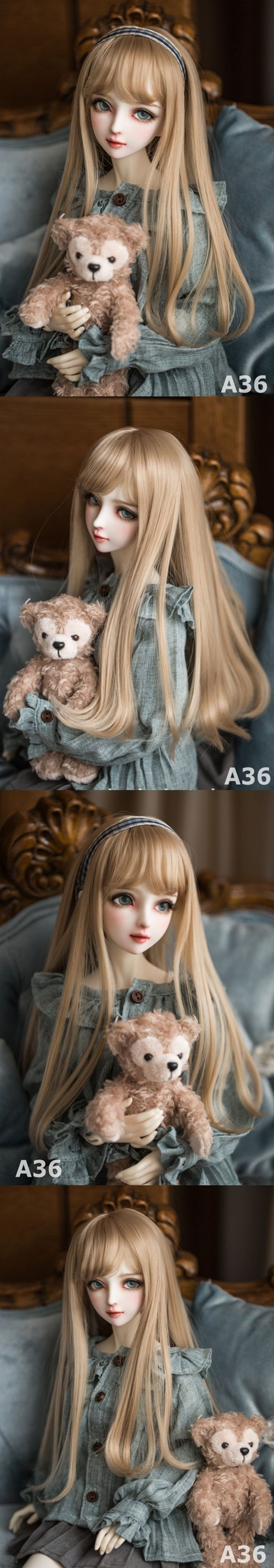 1/3 Wig Light Brown Hair for SD Size Ball-jointed Doll_WIG_Ball Jointed Dolls (BJD) company-Legenddoll