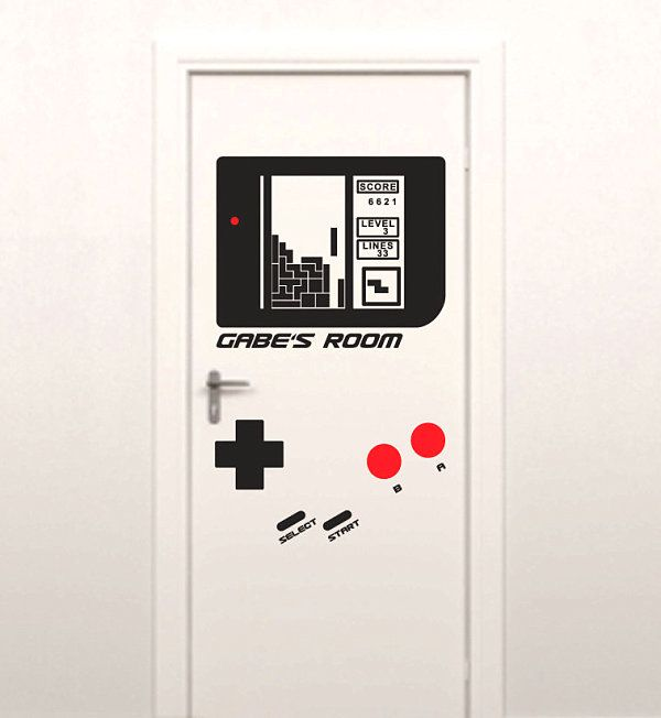Door Decals | Game Console Wall Decal