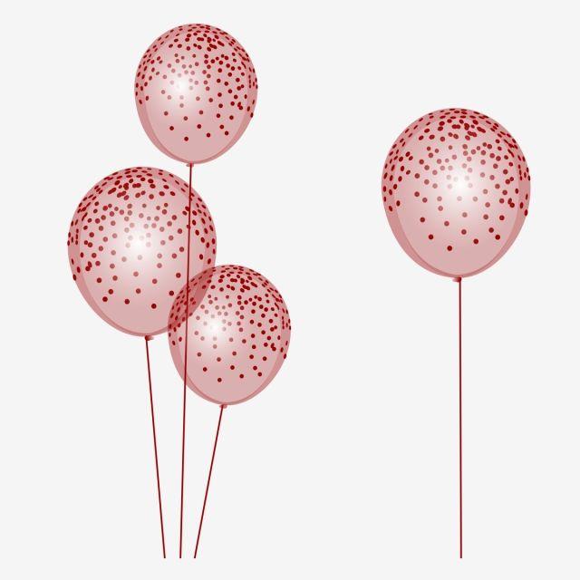 Maroon Party Balloons Colored Balloons Festival Vector Balloon