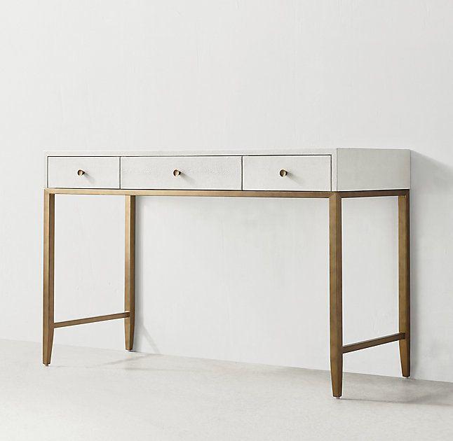 RH TEENs Aubrey Shagreen DeskPairing the glamour of Art