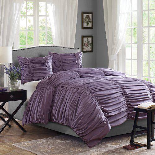 Lavender Purple Ruffled Bedding Set - Purple Bedroom Ideas