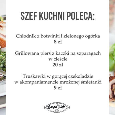 Restauracja Mysłowiece Carpe Diem wprowadziła letnie menu, które idealnie sprawdzi się w gorące dni. www.restauracja-carpediem.pl