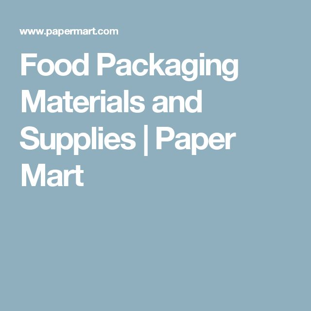 Food Packaging Materials and Supplies | Paper Mart