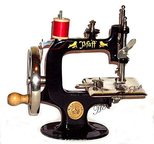 Antique pfaff sewing machine.  I've never seen a Pfaff Toy Sewing Machine before.