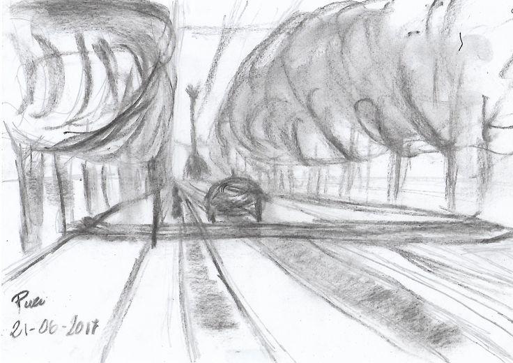 """Ejercicio 2. Esbozo, muchos artistas lo convierten en un fin en si mismo, """"Urban Sketcher"""". Estos artistas dibujan su entorno o donde se encuentran, utilizando diversas técnicas tanto secas como húmedas."""