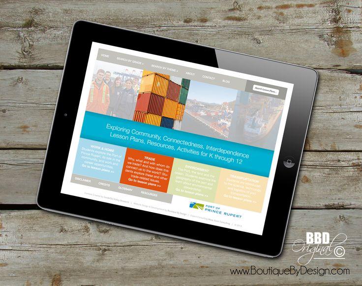 Website #responsive Design #PortofPrinceRupert #boutiquebydesign www.boutiquebydesign.com