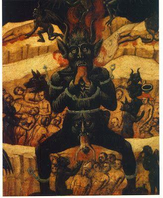 Hellmouth and Satan represantation in medieval paintings