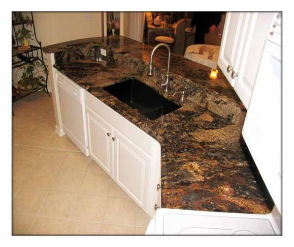 Magma granite kitchen magma gold granite a k a sedna or for K kitchens and granite