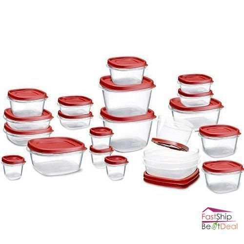 Rubbermaid Food Storage Container Set with Lid 42 Piece Microwave Freezer Safe #Rubbermaid