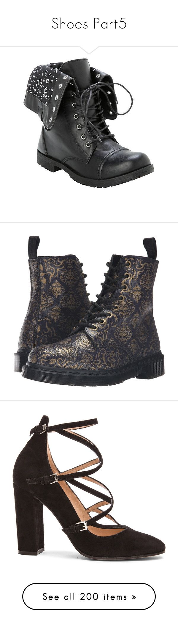 """""""Shoes Part5"""" by topazwarrior ❤ liked on Polyvore featuring shoes, boots, ankle booties, 20. boots., footwear, combat boots, combat booties, black lace up boots, black lace up ankle booties and black combat boots"""