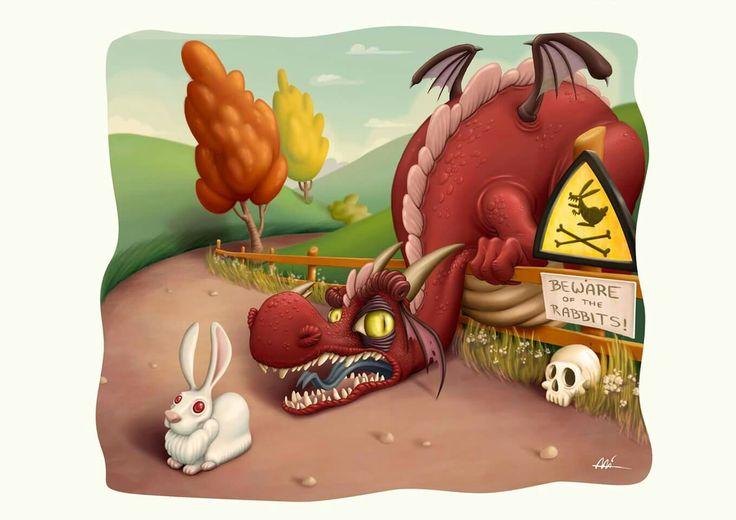 Rabbit of Caerbannog by Ali del Rey Ilustra #caerbannog #rabbit #alidelreyilustra