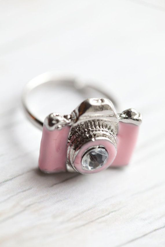 Pink Camera Ring fashion pink jewelry camera ring camera ring