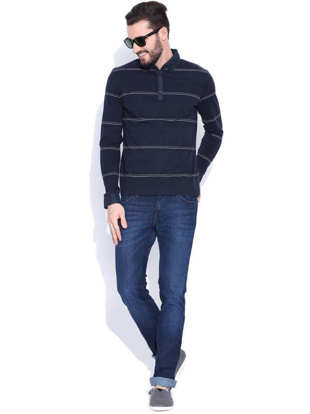 Dream of Glory Inc. Navy Striped T-shirt
