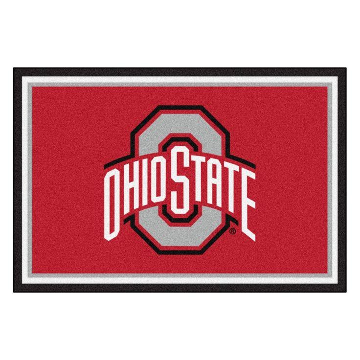 Ohio State Buckeyes Ultra Plush Area Rug
