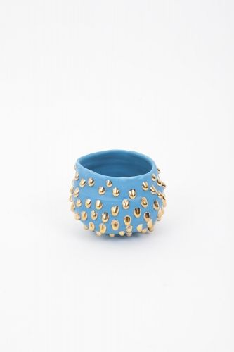 Sky blue-slipped Gold-drop bowl - Takuro Kuwata - Salon 94