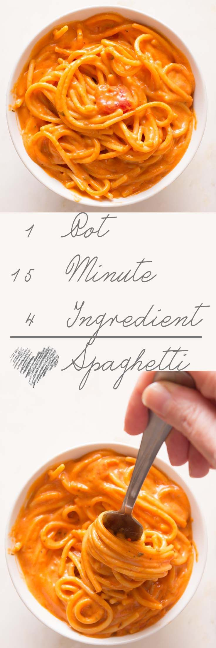 One Pot Quick and Easy Spaghetti - ready in 15 minutes!